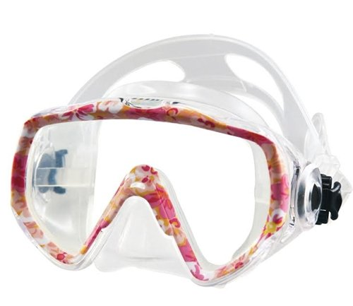 [Tilos Childs Wide View Non-Purge Titanica Camo 1-Window Mask] (Scuba Costume Child)