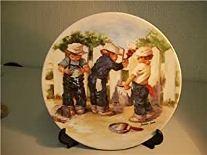 A Coat of Paint Jeanne Down collectible plate Knowles 1985 3rd plate in Down's Friends I Remember collection