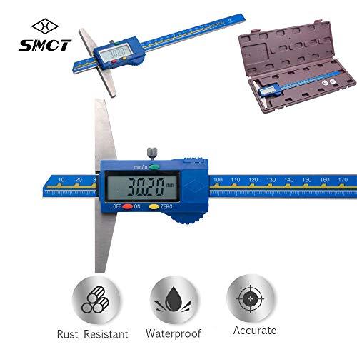 Digital Depth Gauge - MASO 200 mm/ 8 inch Digital Professional Depth Gauge Stainless Steel, Inch/Metric,Micrometer Measuring Tools
