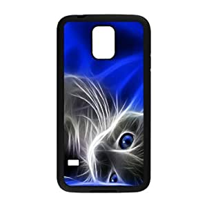 Samsung Galaxy S5 Case, Cat Shadow Case for Samsung Galaxy S5 {Black}
