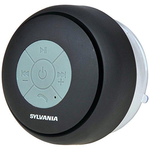 Sylvania SP230 Black Bluetooth Shower Speaker