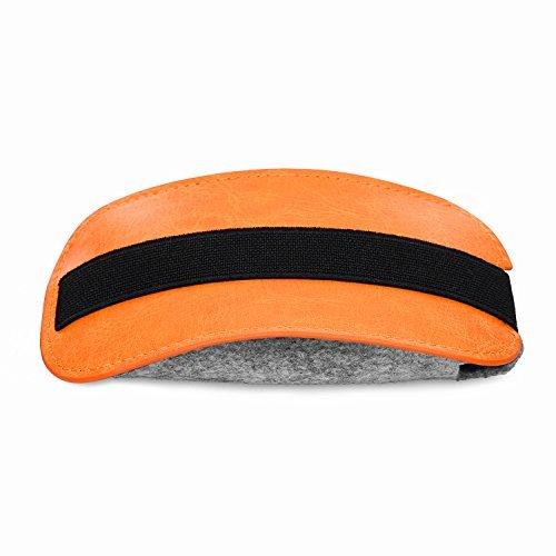Tsmine Premium PU Leather Carrying Bag Case for Apple Magic Mouse 2 / Mouse/UHURU/Tsmine/ROYSC/SROCKER T3 / Azmall Wireless Mouse, Brown