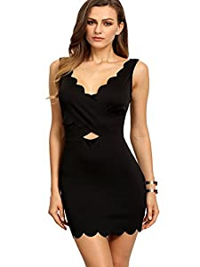 38. SheIn V-Neck Sleeveless Hollow Backless Bodycon Dress