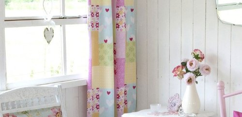 Girls Patchwork Curtains   Nursery/Childrenu0027s Bedroom