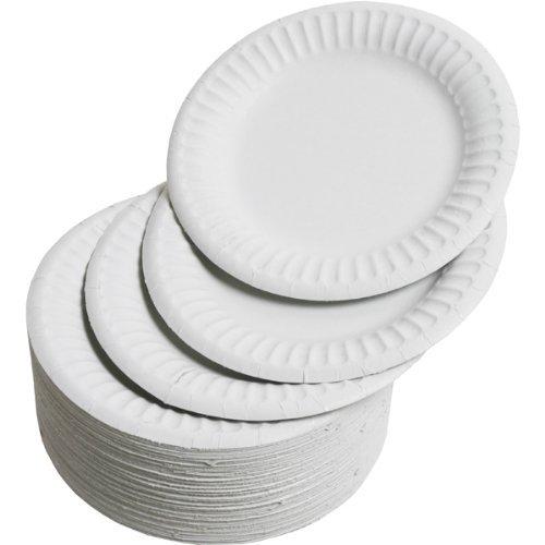 Platos de cartón de Drinkstuff (100 unidades, 23 cm), descartables, para