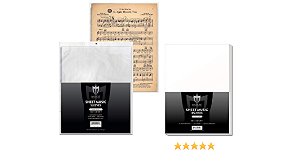 archival quality collectible soft Poly acid free 200 BCW Sheet Music Sleeves