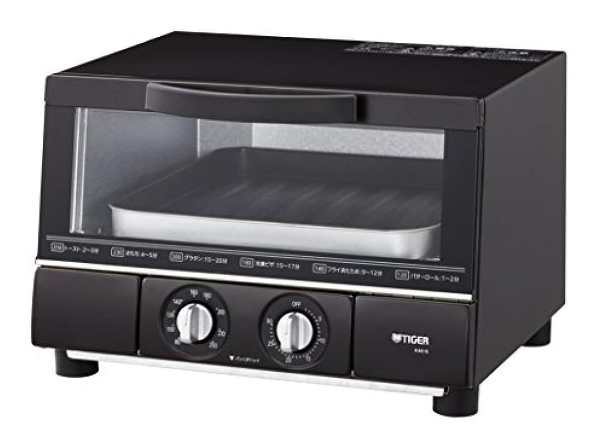 [해외] 타이거 보온병(TIGER) 오븐 토스터기 말[馬]  빵 토스터기 매트 블랙 사이즈(약)35.4×34.4×24.2CM 트리플 히터 설계 KAE-G13N-K