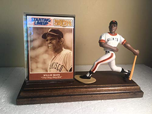 Willie Mays San Francisco Giants Starting Lineup Figure Mounted on Custom Made Wood Base ()