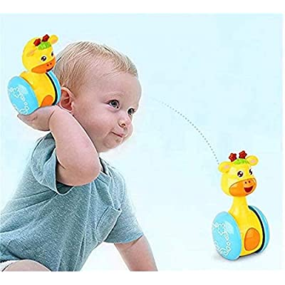 CARDEON Cartoon Giraffe Tumbler Doll Baby Toys Cute Rattles Ring Bell Newborns 3-12 Month Early Educational Toy for Baby Boys and Girls Xmas Birthday Gifts: Home Improvement