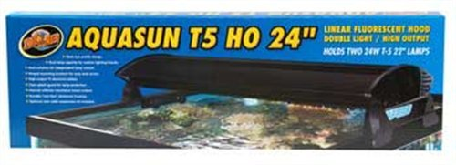 Zoo Med AquaSun T5-HO Double Light Linear Fluorescent Hood, 24-Inch by Zoo Med