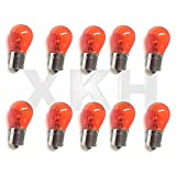 XKH- Compatible with 10pcs 1156NA Amber Light Bulb Tail Rear Brake Stop Turn Front Signal Orange 1156 [B07M6M9K5Q]