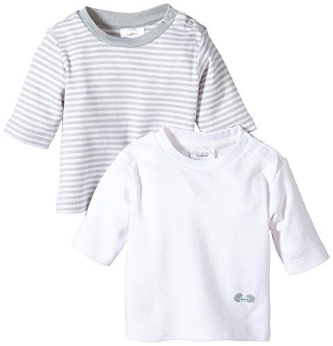 Twins Unisex Baby - Langarmshirt im 2er Pack, Mehrfarbig, Gr. 92, Mehrfarbig (11-0601 - weiss)