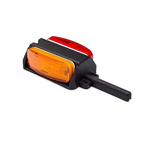 (Lumitronics Pre-Wired Fender Clearance Trailer Light Assembly - Amber/Red (Left Fender))
