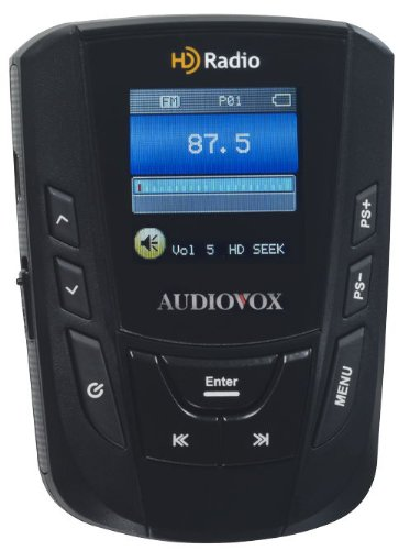 AudioVox IHDP01A Portable HD/FM Radio Player with Belt Clip and ()