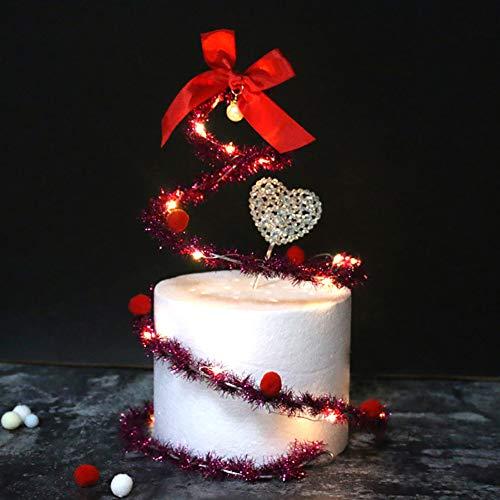 (JunHenglr Cake Topper Decoration£¬ Christmas Santa Bowknot Spiral Garland Cake Ornament Decoration Party Supplies - Purple)