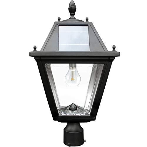 Regal 3 Bulb - Gama Sonic GS-300F Regal Lamp Outdoor Solar Light Fixture, 3