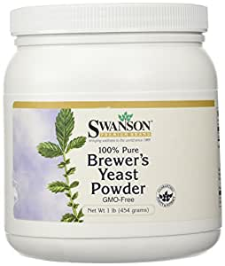 100% Pure Brewer's Yeast Powder Gmo-Free 16 oz (454 grams) Pwdr by Swanson Premium