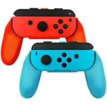 Joy-Con Grips for Nintendo Switch, 2win2buy Wear-resistant Comfort Joy con Handle Controllers [Ergonomic Design] Pack of 2 Blue Red