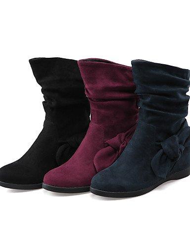 5 Negro Xzz Botas De Marino Mujer Moda Vellón 5 Zapatos Rojo La Cn38 us6 Uk4 Tacón Blue Uk5 us7 Cuña Dark Eu36 Cuñas A Red Redonda Azul Casual Eu38 Cn36 Vestido Punta ZZ8BWxU