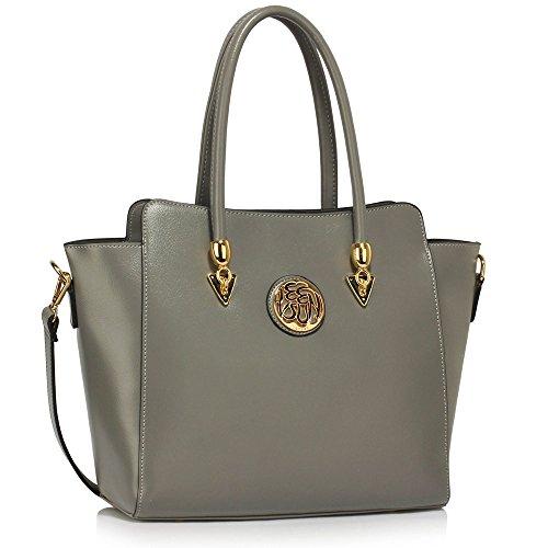 Tote Élégance Bag À Gray Épaule Leahward® Main Gret Femme 149 Sacs qawxW4A1X