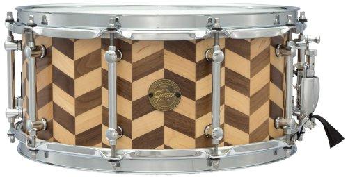 Gretsch Drums Gold Series S1-6514SSZZMW 14-Inch Snare Drum, Satin Stave Snare Drum Shell