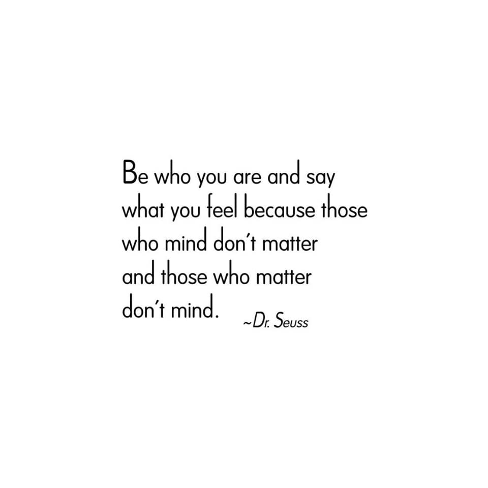 WallStickerUSA Medium Be who you are and say what you feel because those who mind dont matter and those who matter dont mind.   Dr. Seuss Quote Saying Wall Sticker Decal Transfer Film 17x25