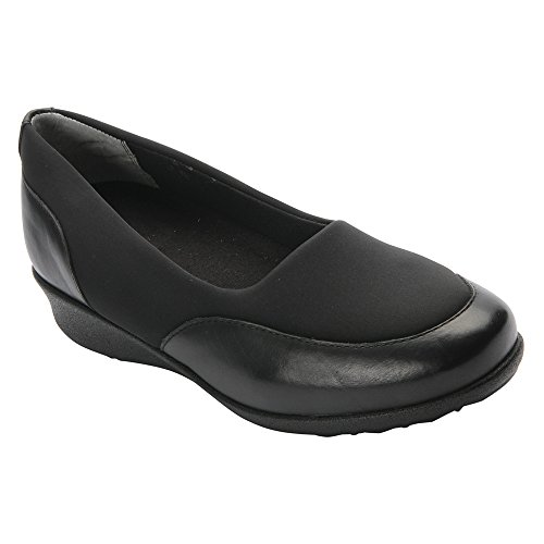 Trok Schoenen Dames London Ii Slip Op Textiel Casual Flats Zwart, Zwart Stretch