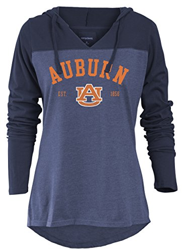 Tigers Womens Hoodie Sweatshirt (Camp David NCAA Auburn Tigers Women's Color Block Long Sleeve Hoodie, Medium, Marine)