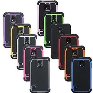 GX Teléfono Móvil Samsung - Cobertor Posterior - Puntos Redondos - para Samsung S5 i9600 ( , Yellow