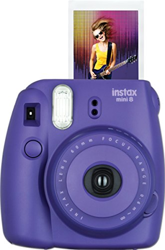 Fujifilm Instax Mini 8 Instant Film Camera (Grape) (Polaroid Instax 8 Purple)