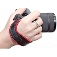 Spider Holster SpiderLight Wrist Camera Strap (Red Trim) For DSLR & Mirrorless Cameras w/ 2 ivation Replacement Quick Release Plates for the Manfrotto RC2 Rapid Connect Adapter