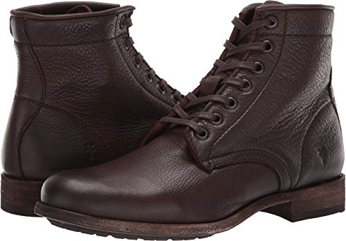 FRYE Women's Tyler Lace-Up Dark Brown 8 B US
