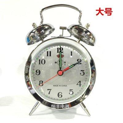 Cunclock Una nueva mecánica de metal Despertador cuerda Manual antiguo núcleo de cobre Bell Ji Zhuomi Moda creativa reloj 8Cunclock 3 Plata maquinaria ...