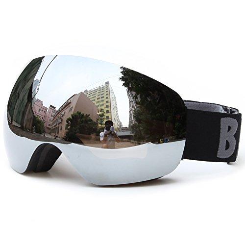 Benice Ski Goggles- Frameless Anti-fog Lens UV400 Pretcetion for Men, Women & Youth