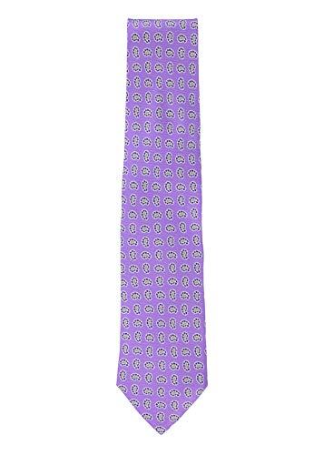 Isaia Mens Purple 100% Silk Paisley Pattern Handmade Classic Tie~RTL$275 ()