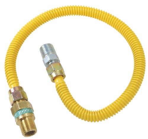 Plumb Shop Brasscraft CSSD44E-24P 1/2-Inch MIP x 1/2-Inch MIP x 24-Inch Gas Connector