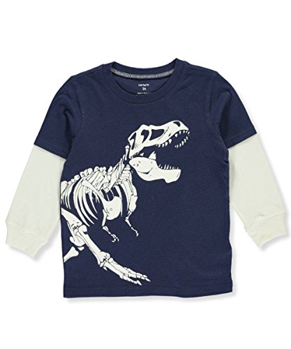 Layered Look Graphic Tee - Carter's Boys' 2T-8 Layered Look Glow-In-The-Dark Dinosaur Graphic Tee 4T
