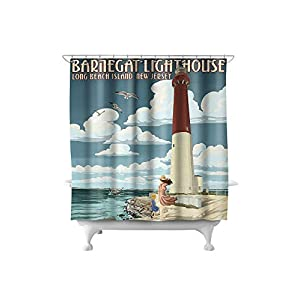 41-4uIqosOL._SS300_ 200+ Beach Shower Curtains and Nautical Shower Curtains