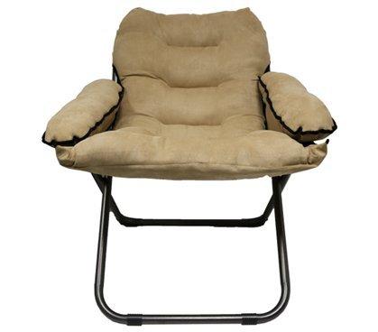 College Club Dorm Chair - Plush & Extra Tall - Tan