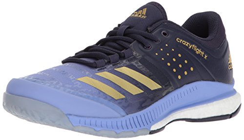 adidas Womens Crazyflight X W Volleyball Shoe Chalk Purple/Metallic Gold/Noble Ink