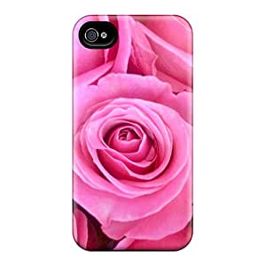 Iphone 4/4s Case Cover - Slim Fit Tpu Protector Shock Absorbent Case (roses)