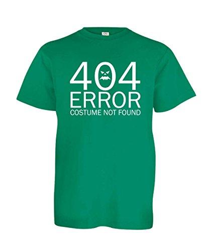 [Tenacitee Boy's Youth 404 Costume Not Found shirt, Small, Kelly Green] (Nerd Halloween Costumes Guy)