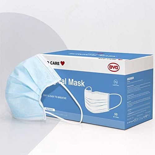 Single-use Level II Ear Loop Mask, Non-sterile, Appropriate for medical or personal use (50)