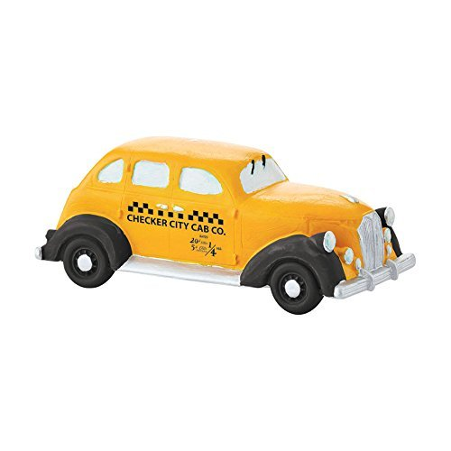 Department 56 Christmas in the City Village Checker City Cab Accessory Figurine, 1.73""