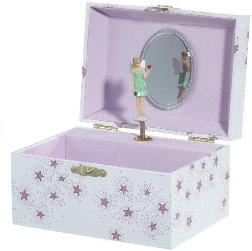 MusicBox Kingdom 22007 Fairy Musical Jewelry Box, Playing Brahms