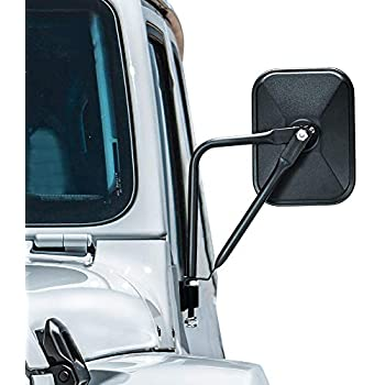 2 Pack of Quick Release Mirrors Kit for Jeep Seven Sparta Doors off Mirrors Replacement for Jeep Wrangler 2007-2018 JK /& JL 2020 JT Shake-proof Doorless Side Mirror