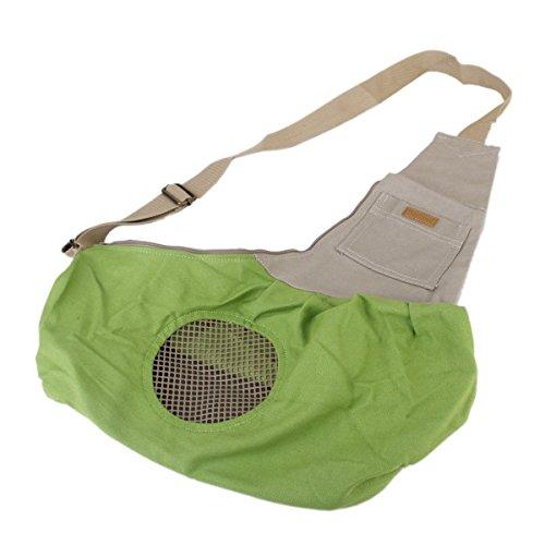 Tinksky Tiny Canvas Pet Dog Cat Carrier Sling Shoulder Bag Carrier Bag (Green)