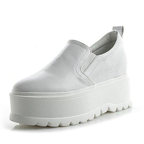 Sneakers Donna Fashion Platform Sneakers Flat Comfort Con Suola Spessa Scarpe Bianche