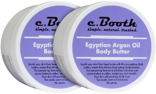 - c. Booth Body Butter, Egyptian Argan Oil, 8 oz, 2 pk