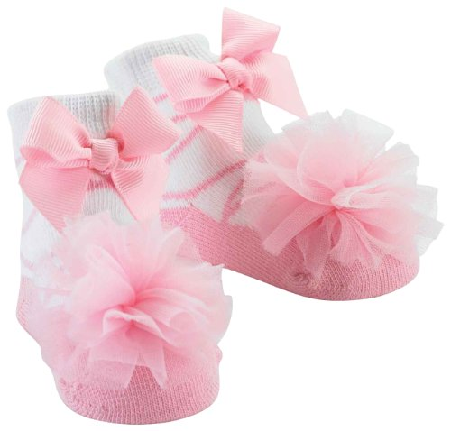 Mud Pie Baby Girl's Sock Set, Pink Tulle, 0-12 Months